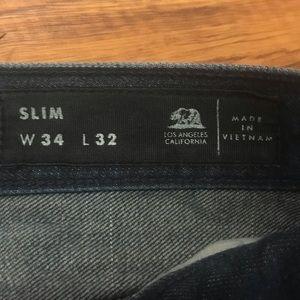 Bullhead Jeans - Bullhead Dark Wash Slim Fit Men's Jeans